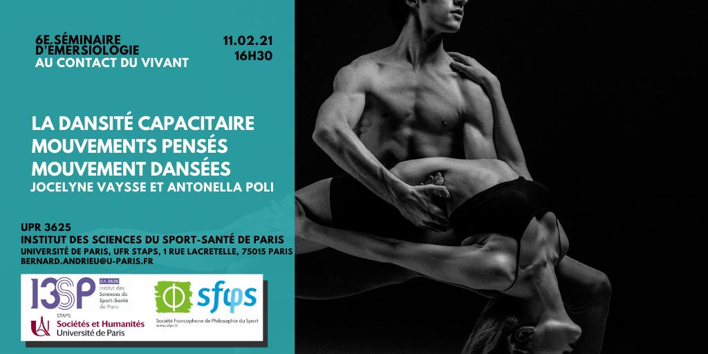 Séminaire d'émersiologie 11.02.21 : La dansité capacitaire : mouvements pensés, mouvements dansés